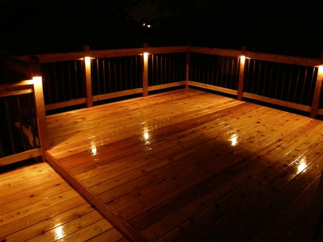 Deck post lights | Deck design and Ide