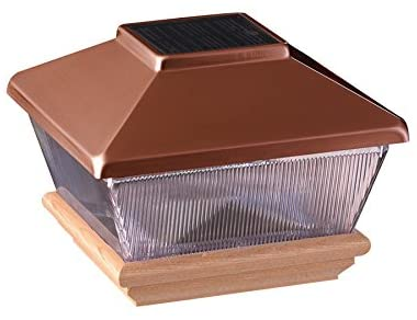 "Amazon.com : Copper Top Solar LED Light 4"" x 4"" Post Caps for ."