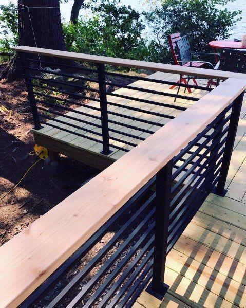 Top 50 Best Metal Deck Railing Ideas - Backyard Designs | Balcony .