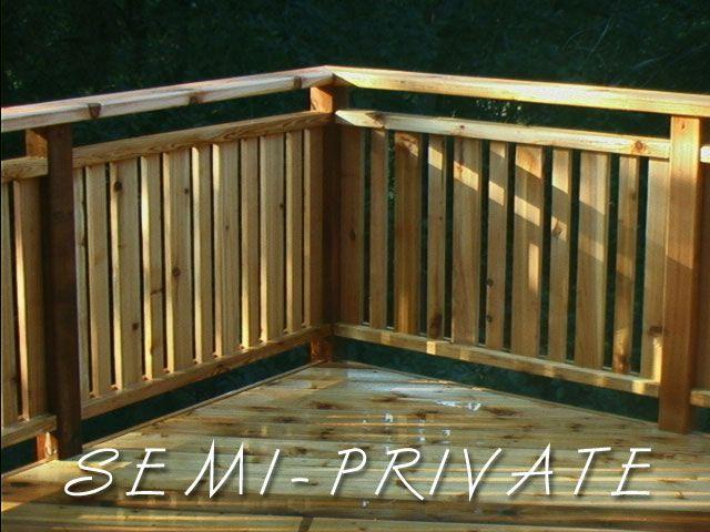 semi-private railing | Deck railings, Deck, Deck priva