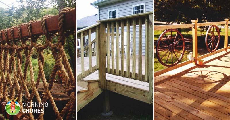 32 DIY Deck Railing Ideas & Designs That Are Sure to Inspire Y