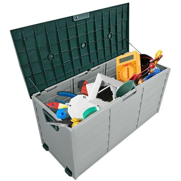Shop Gymax 70 Gallon Outdoor Patio Deck Storage Box Tool Box .