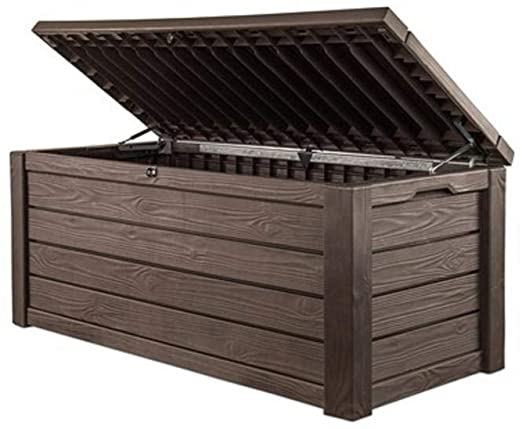 Amazon.com: Pool Deck Storage Box and Bench is 2 in 1 .