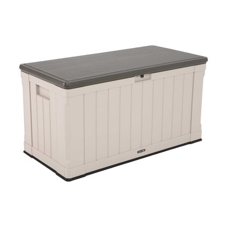 Lifetime 116 Gallon Heavy-Duty Deck Box, Desert Sand - Walmart.com .