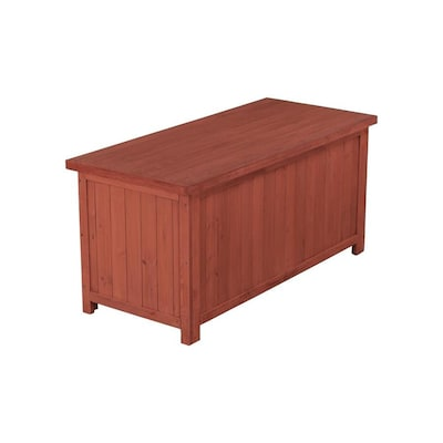 Leisure Season 50-in L x 22-in W Wood Deck Box at Lowes.c