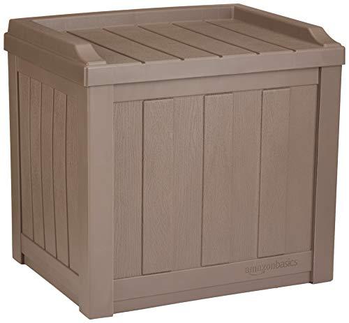 Amazon.com : AmazonBasics 22-Gallon Resin Deck Storage Box, Mocha .