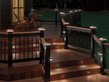 Composite deck with solar lights❤ my soon to be new deck | Solar .