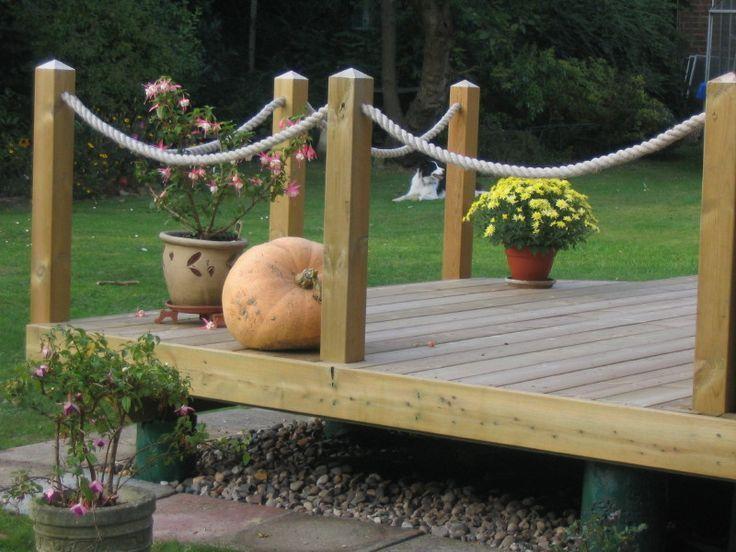 Image result for deck rope edging ideas   Deck garden, Front .