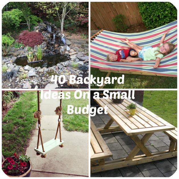 40 DIY Backyard Ideas On a Small Budg