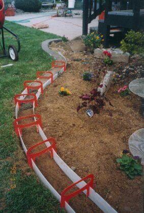 Diy landscape border … | Amenagement jardin, Pelouse et jardin .