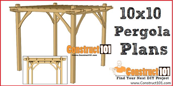 Simple DIY Pergola Plans - Construct1