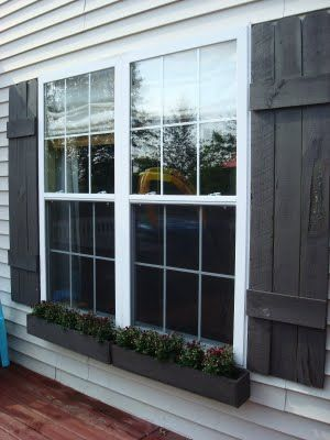 DIY window boxes! | Window boxes diy, Diy window, Diy shutte