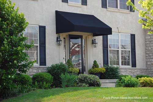 Porch Awnings in 2020 | Front door awning, Porch awning, Front .