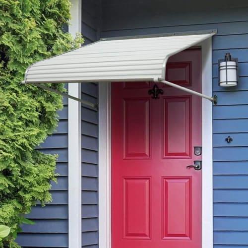 Aluminum Door Awnings Heavy Duty Anti Rust Mounted Canopy Shade .
