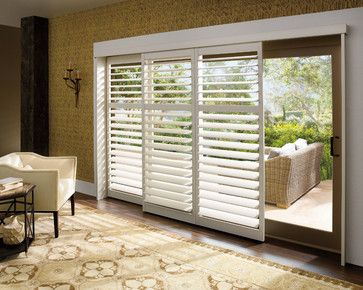 and Decor - page 5 Sliding wood blinds for sliding glass doors .