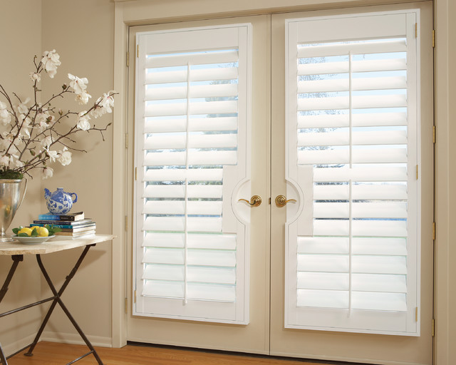 French Door Shutters: Interior Shutters - Transitional .