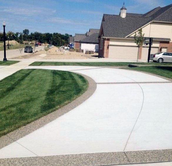 Top 50 Best Concrete Driveway Ideas - Front Yard Exterior Designs .