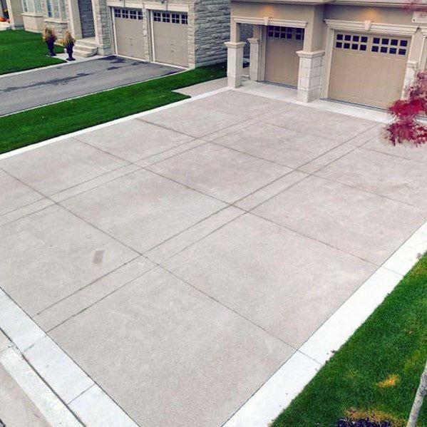 Top 50 Best Concrete Driveway Ideas - Front Yard Exterior Desig