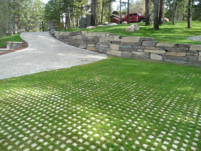 Grassy Lattice Driveways are right up my alley | Grass pavers .