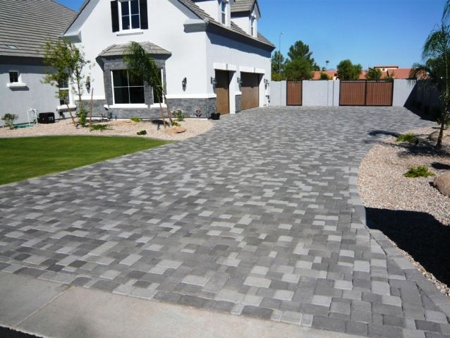Gray Driveway Pavers | Centurion Stone Of Arizona Grey Pavers .