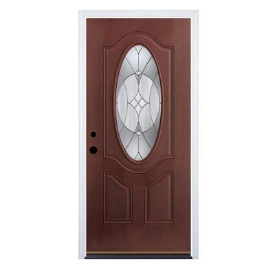 Therma-Tru Benchmark Doors Delano Oval Lite Decorative Glass Right .