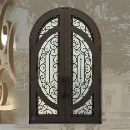 China Wholesale Exterior Entrance Wrought Iron Double Entry Doors .