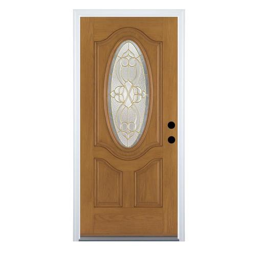 Therma-Tru Benchmark Doors Willowbrook Oval Lite Decorative Glass .