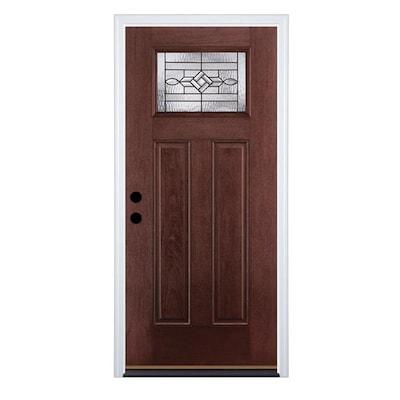 Therma-Tru Benchmark Doors WickerPark Craftsman Decorative Glass .