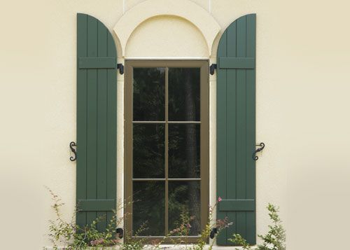 arched windows and shutters   Wood Exterior Shutters Gallery .