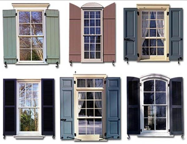 Types of Exterior Shutters | Exterior house colors, House shutte