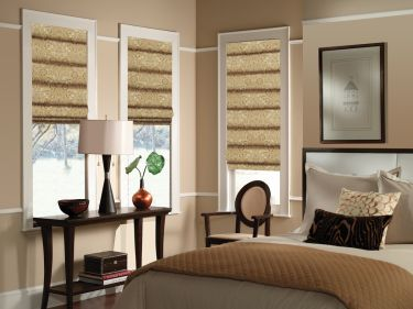 Patterned & Colorful Fabric Roman Shades - Affordable Shad
