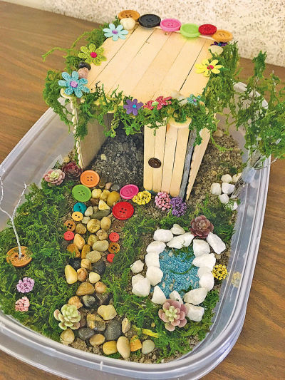 Make your own mini fairy garden at the Utica libra