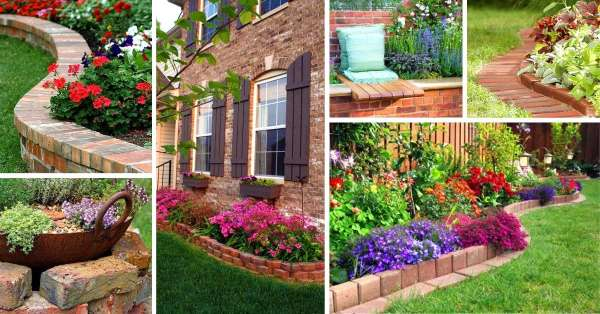 14 Brick Flower Bed Design Ideas You Can Replicate Instant