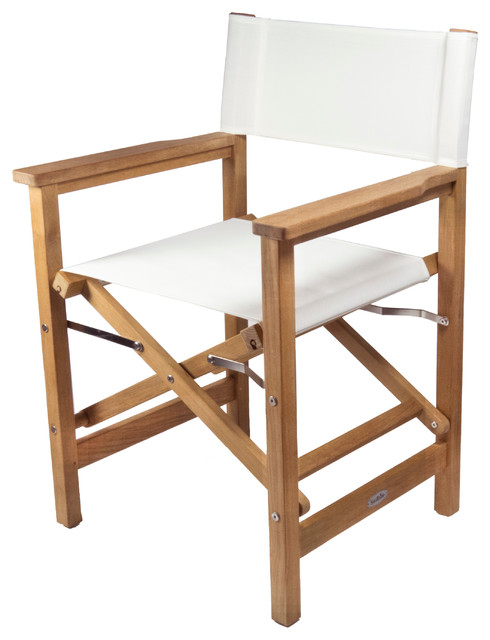 Teak Director's Chair - Traditional - Outdoor Folding Chairs - by .