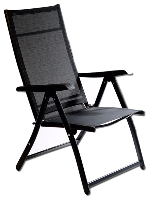 Heavy Duty Adjustable Reclining Folding Chair - Contemporary .