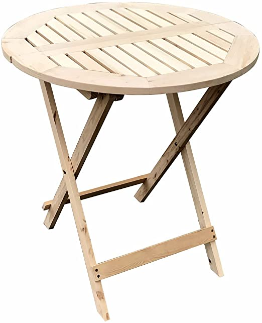 Amazon.com : UHOM Wooden Round Folding Table Outdoor Patio .