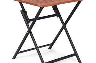 Amazon.com: Tangkula Folding Patio Table, Wood Table Portable .