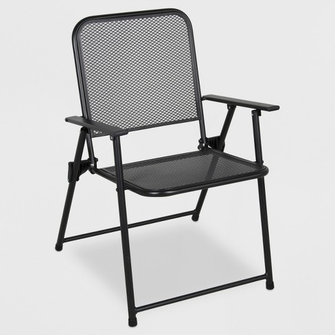 Metal Mesh Folding Patio Chair - Threshold™ : Targ