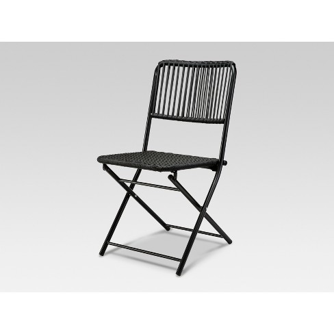Standish Folding Patio Chair Black - Project 62™ : Targ