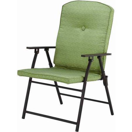 Mainstays Ms Padded Fabric Folding Chair Grn Flrl - Walmart.com .