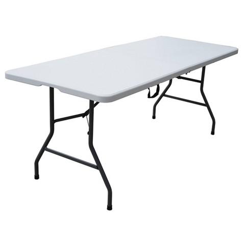 6' Folding Banquet Table Off-White - Plastic Dev Group : Targ