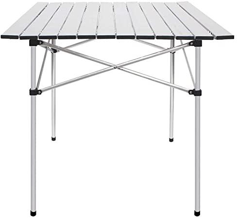 Amazon.com: Deanurs Folding Tables Camping Roll Up Aluminum .