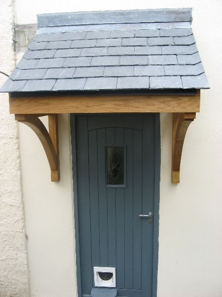 Quality Woodworks » Oak door canopy and Front door … | Porch .