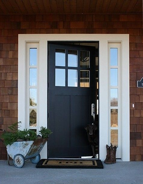 Home Safe | Front door design, Black front doo