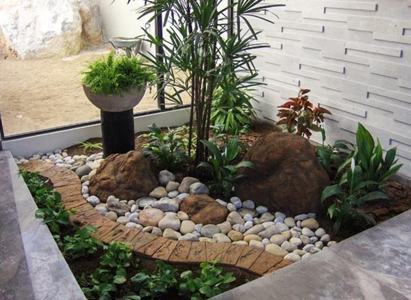 High Resolution Small Rock Garden Ideas #7 Small Front Yard .