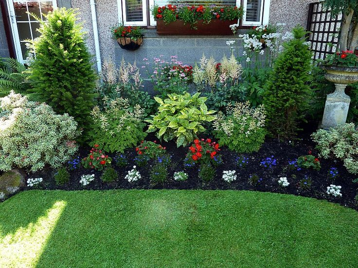 front yard perennial gardens – Google Search | Small front yard .