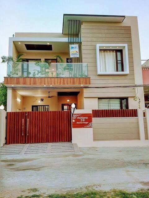 Paint colour   Duplex house design, House front design, Bungalow .