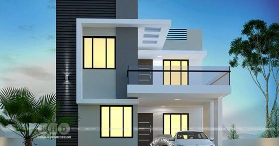 3 bedroom 1650 sq-ft modern home design   Duplex house design .
