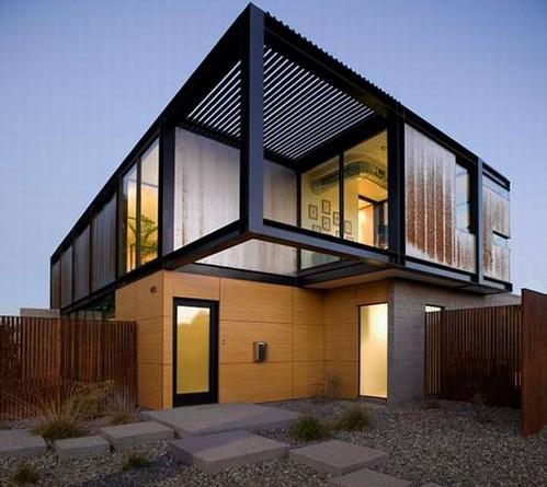 Sosnowksi Residence 1 Facade Minimalist Front House Design .