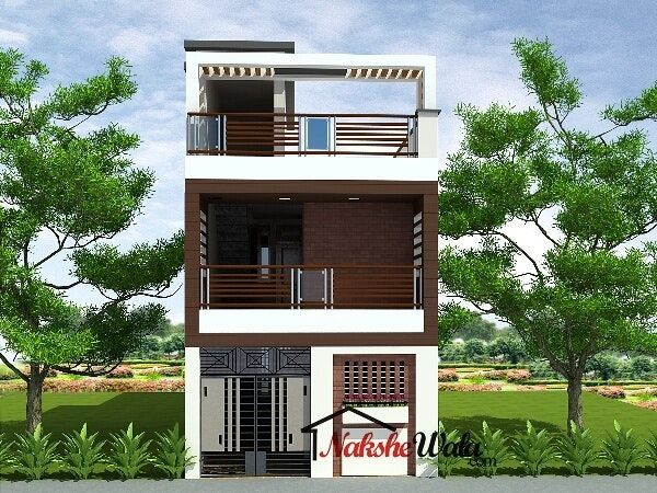 Small House Elevations Front View Designs Duplex   Small house .